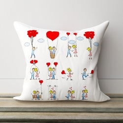 Mad In Love Satin Pillow