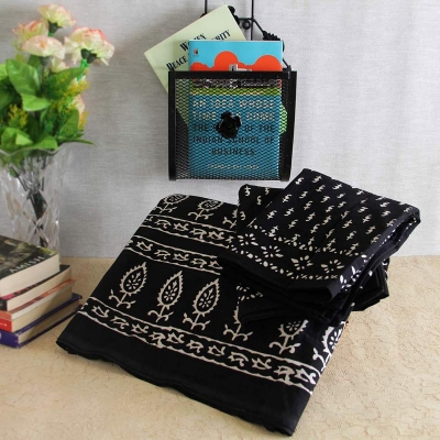Rajasthani Double Bed sheet with Wrought Iron Lamp