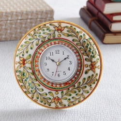 Spectacular Marble Watch with Meena Work