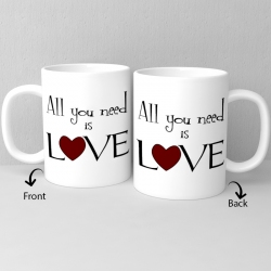 All U Need Is Love Ceramic Mug