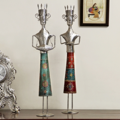 Set of Two Artistic Figures
