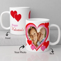 LUV U Valentine personalized ceramic mug