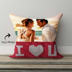 I Love U Personalized Crystal Pillow
