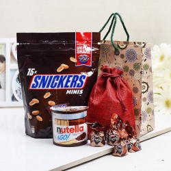 Nutella Ferrero with Truffle and Snickers Gift Bag