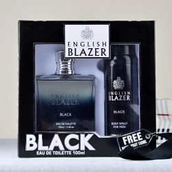 English Blazer Black Gift Set