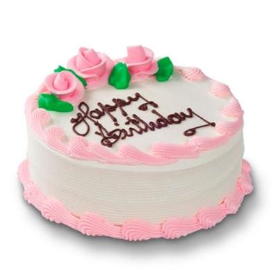 500 Gms Strawberry Crush Birthday Cake