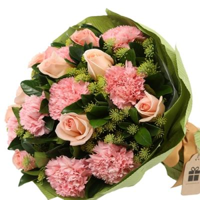Pink Roses and Carnations Bouquet