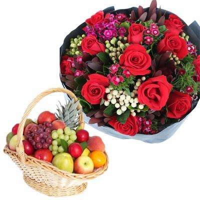 Exotic Fruits and Roses