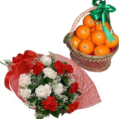 Carnations and Oranges Delight