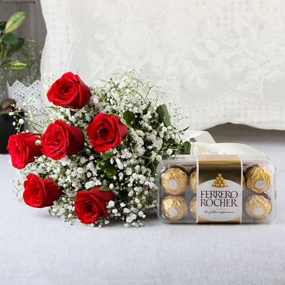 Roses & Chocolate Combo