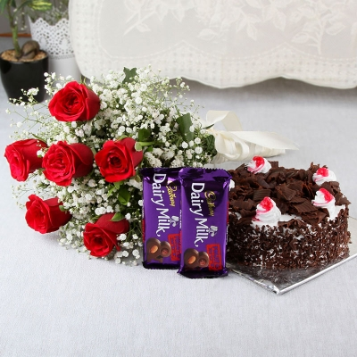 Bunch of Roses & Choco Combo