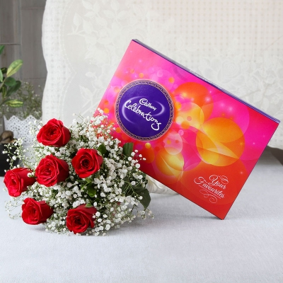 Red Rose & Chocolate Combo