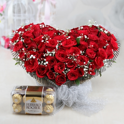 Rose & Ferrero Rocher Box Combo