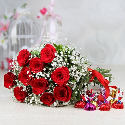 Red Roses and Chocolates Combo
