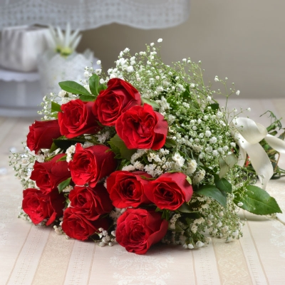 Be Mine Bouquet of 12 Red Roses