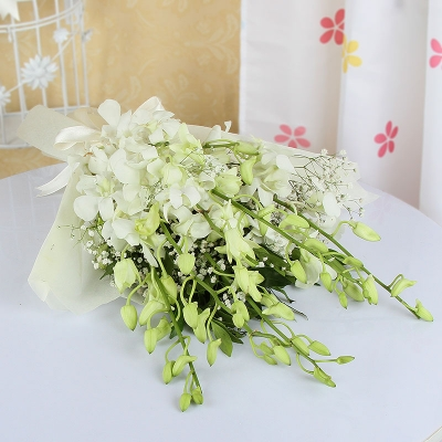 Lovely White Orchid Bouquet