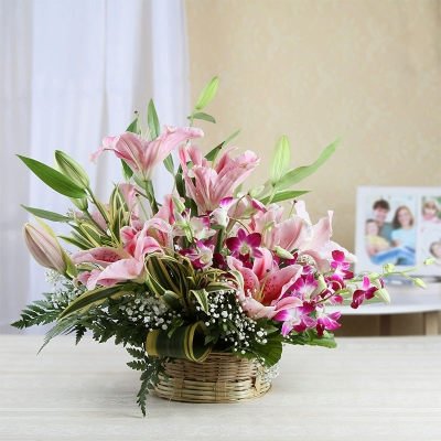 Delicate Lilies and Orchids