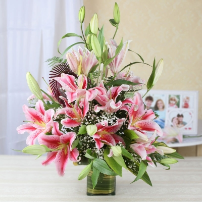 Wonderful Pink Lilies