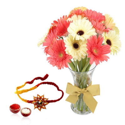 Gerberas on Raksha Bandhan