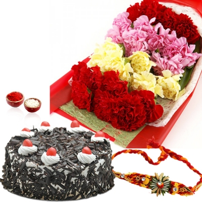 Carnations Wishes for Bhai