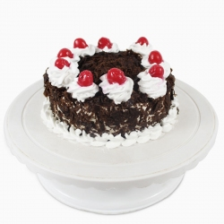 Round Black Forest Cake (500 Gm)