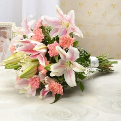 Charming Carnations & Lilies Combo