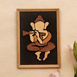 Great Lord Ganesha : Wooden Relief Paintings
