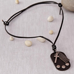 Adjustable Leather String Necklace with Exclusive Pendants