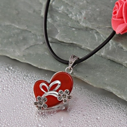 Red Heart Shaped Pendant