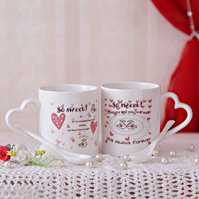 Awesome Mugs and Spoons Set