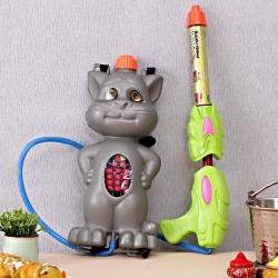 Grey Tom Cat Water Pichkari Gun Tanker