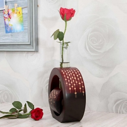 Red and brown : Bud Vases