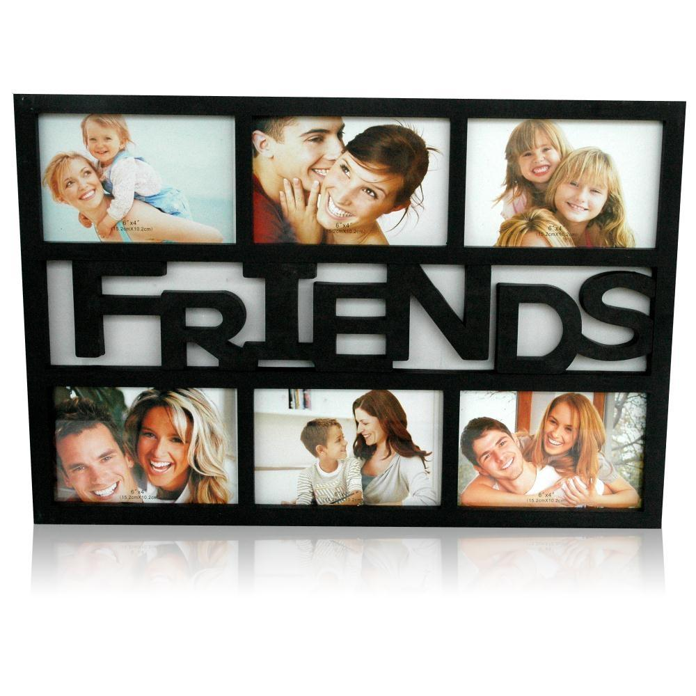 6 in 1 friends collage black frame personalized collage frames