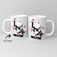 Two Personalized Ceramic Mugs