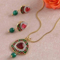 Designer Pendant and Earrings