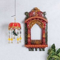 Rajasthani Jharokha with Artistic Wall Hanging
