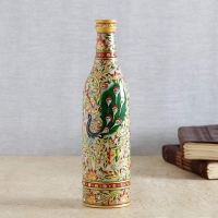 Marble Bottle With Peacock
