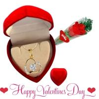 Love pendant with rose