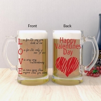 Valentines Day Frosted Glass