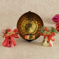 Self Design Candle Holder with Christmas Decoration