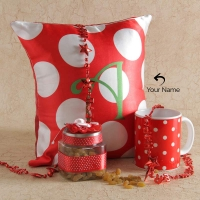 Personalized Pillow with Mug and New Year String