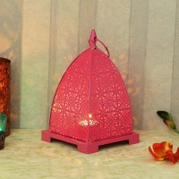 Pink Dome Shaped Candle Stand