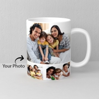 White Personalized Mug with Five Photo Slots