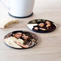 Personalized Round Tea Coasters