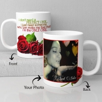 Happy valentine personalized white ceramic mug
