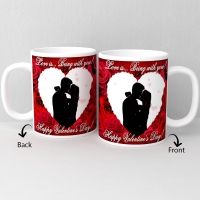 Happy Valentine Day personalized white ceramic mug