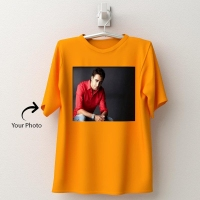 Personalized yellow cotton T-shirt 147