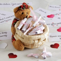 Teddy Message Basket