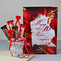 Chocolate Bucket with Greeting Card