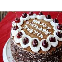 Birthday Black Forest Cherry Cake